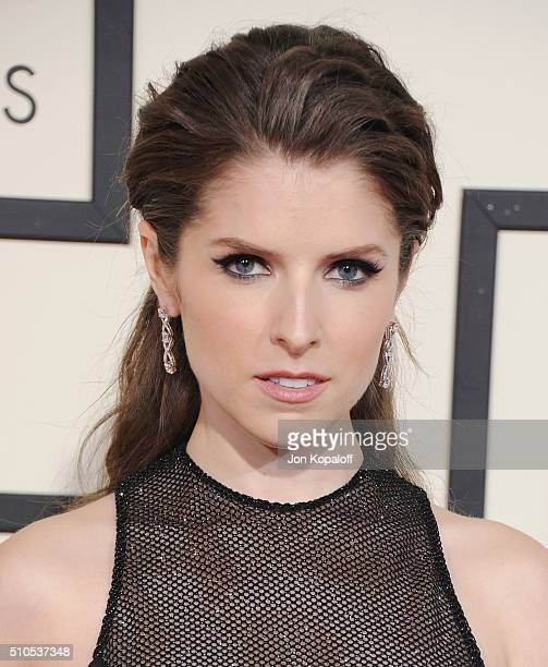 Actor Anna Kendrick arrives at The 58th GRAMMY Awards at Staples Center on February 15 2016 in Los Angeles California