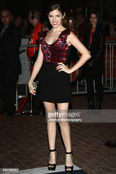 Actor Anna Kendrick arrives at The Voices Premiere during the 2014 Toronto International Film Festival held at Ryerson Theatre on September 11 2014...