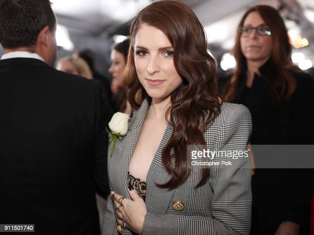 Actor Anna Kendrick attends the 60th Annual GRAMMY Awards at Madison Square Garden on January 28 2018 in New York City