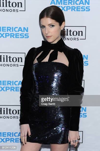 Actor Anna Kendrick enjoys a unique experience at the Hilton and American Express event at the Conrad New York on January 30 2018 in New York City