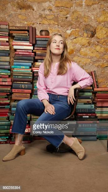 Actor Anna Margaret Hollyman from the film 'Don't Leave Home' poses for a portrait in the Getty Images Portrait Studio Powered by Pizza Hut at the...