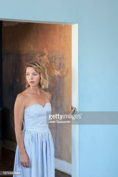 Actor Anna Maxwell Martin is photographed for Observer on July 27, 2018 in London, England.