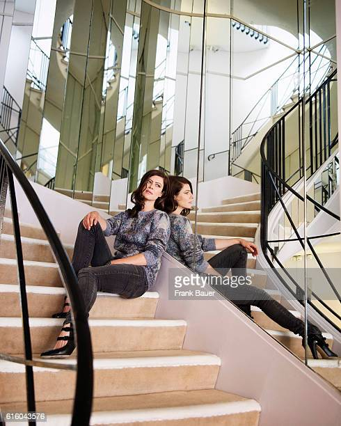 Actor Anna Mouglalis is photographed for Lufthansa Womans World magazine on June 2, 2014 in Paris, France.
