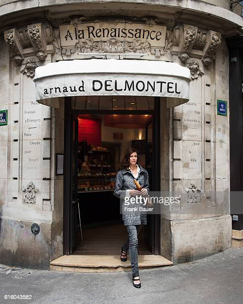 Actor Anna Mouglalis is photographed for Lufthansa Womans World magazine on June 2 2014 in Paris France