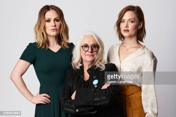 Actor Anna Pauin filmmaker Annabel Jankel and actor Holliday Grainger from the film 'Tell It to the Bees' pose for a portrait during the 2018 Toronto...