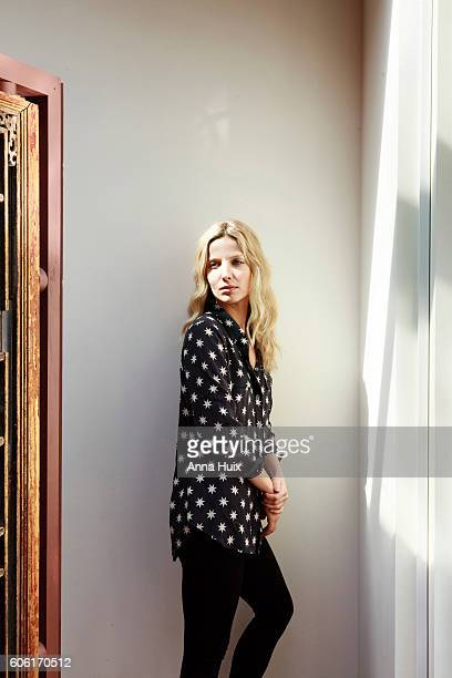 Actor Annabelle Wallis is photographed for the Financial Times on April 24 2016 in London England