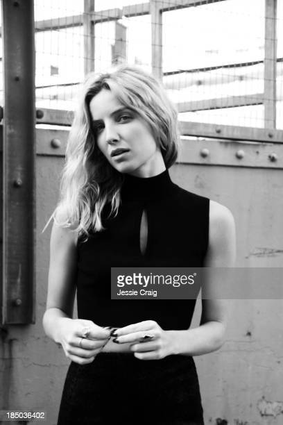 Actor Annabelle Wallis is photographed for Wonderland magazine on October 1 2013 in London England