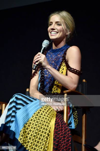 Actor Annabelle Wallis speaks onstage at CinemaCon 2017 Universal Pictures Invites You to a Special Presentation Featuring Footage from its Upcoming...