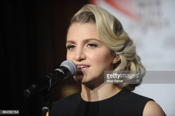 Actor Annaleigh Ashford attend the Hudson Theatre ReOpening Ribbon Cutting at Hudson Theatre on February 8 2017 in New York City