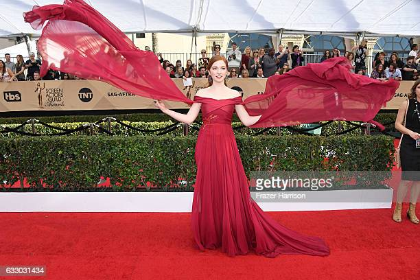 Actor Annalise Basso attends The 23rd Annual Screen Actors Guild Awards at The Shrine Auditorium on January 29 2017 in Los Angeles California...