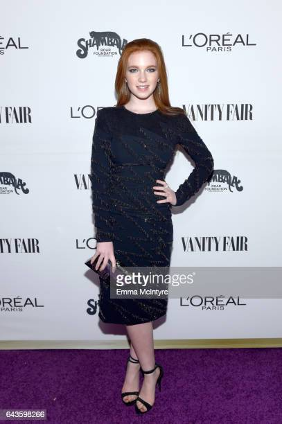 Actor Annalise Basso attends Vanity Fair and L'Oreal Paris Toast to Young Hollywood hosted by Dakota Johnson and Krista Smith at Delilah on February...