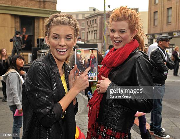 Actor AnnaLynne McCord and Angel McCord attend Variety's 3rd annual 'Power of Youth' event held at Paramount Studios on December 5 2009 in Los...