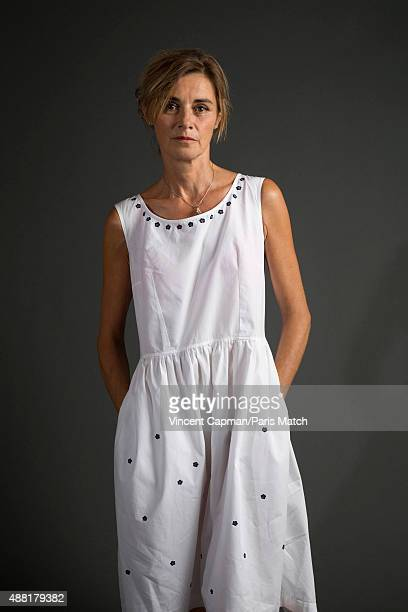 Actor Anne Consigny is photographed for Paris Match on August 31, 2015 in Paris, France.