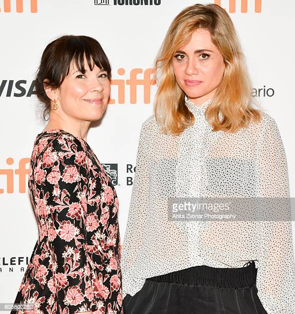 Actor Anne Dorval and director Katell Quillevere attend the 'Heal The Living' premiere held at Winter Garden Theatre during the Toronto International...