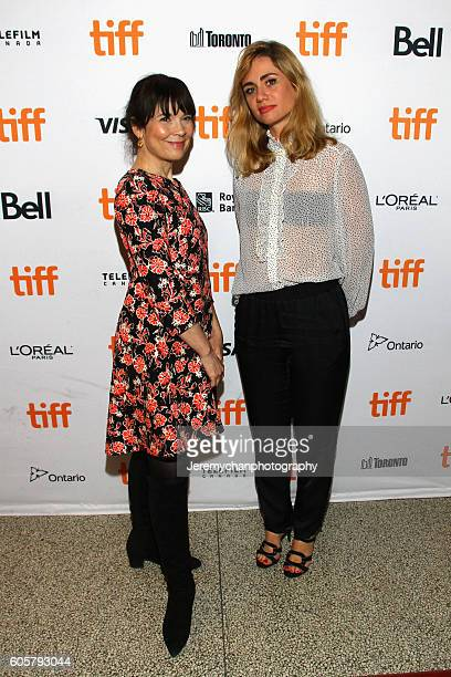 Actor Anne Dorval and director Katell Quillévéré attend the 'Heal The Living' premiere held at Winter Garden Theatre during the Toronto International...
