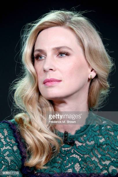 Actor Anne Dudek of 'Corporate' speaks onstage during the Viacom portion of the 2018 Winter Television Critics Association Press Tour at The Langham...