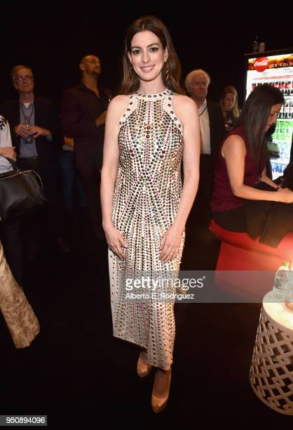 Actor Anne Hathaway attends CinemaCon 2018 Warner Bros Pictures Invites You to 'The Big Picture' an Exclusive Presentation of our Upcoming Slate at...