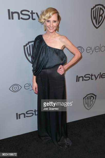 Actor Anne Heche attends the 2018 InStyle and Warner Bros 75th Annual Golden Globe Awards PostParty at The Beverly Hilton Hotel on January 7 2018 in...
