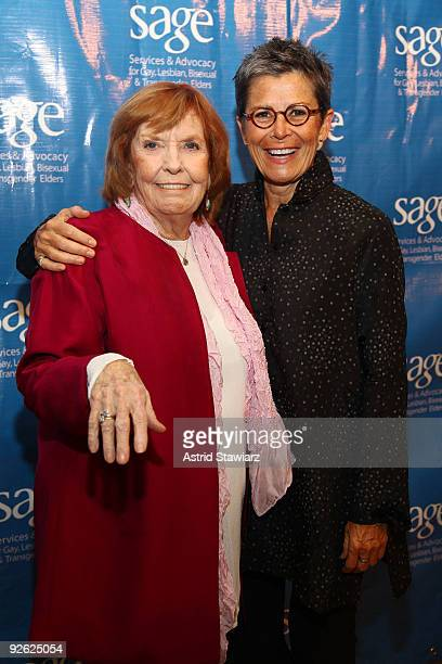 Actor Anne Meara and comedian Kate Clinton attend the 14th Annual SAGE Awards Gala at the Metropolitan Pavilion on November 2 2009 in New York City