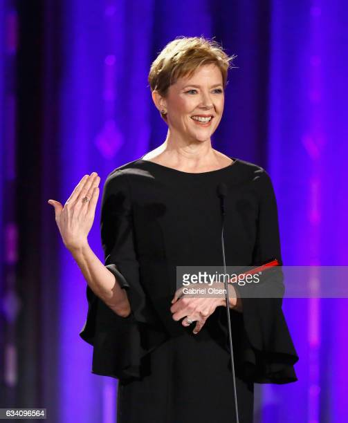 Actor Annette Bening accepts the Best Actress award for '20th Century Woman' at the 16th Annual AARP The Magazine's Movies For Grownups Awards at the...
