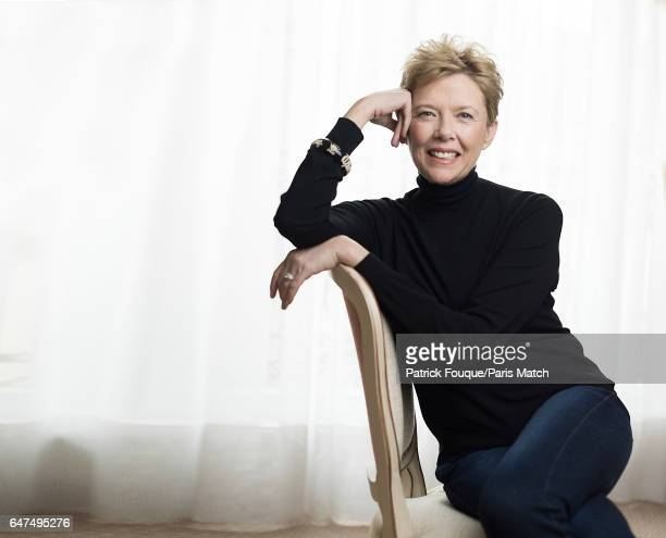 Actor Annette Bening is photographed for Paris Match on January 31 2017 in Paris France