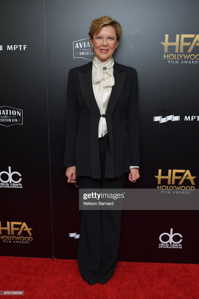 Actor Annette Bening poses in the press room during the 21st Annual Hollywood Film Awards at The Beverly Hilton Hotel on November 5, 2017 in Beverly Hills, California.