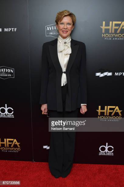 Actor Annette Bening poses in the press room during the 21st Annual Hollywood Film Awards at The Beverly Hilton Hotel on November 5 2017 in Beverly...