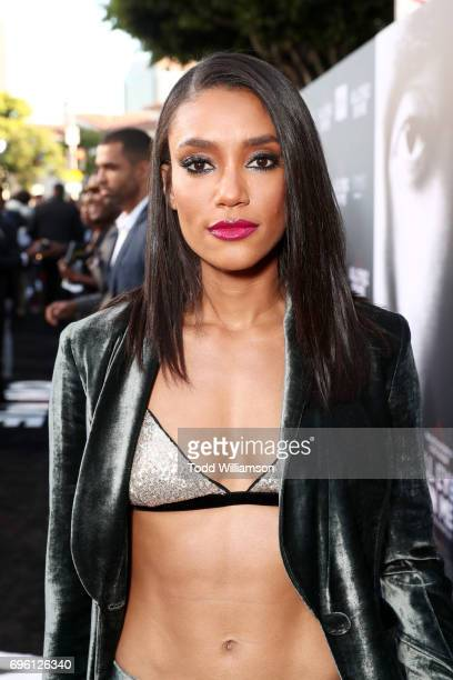 Actor Annie Ilonzeh at the 'ALL EYEZ ON ME' Premiere at Westwood Village Theatre on June 14 2017 in Westwood California