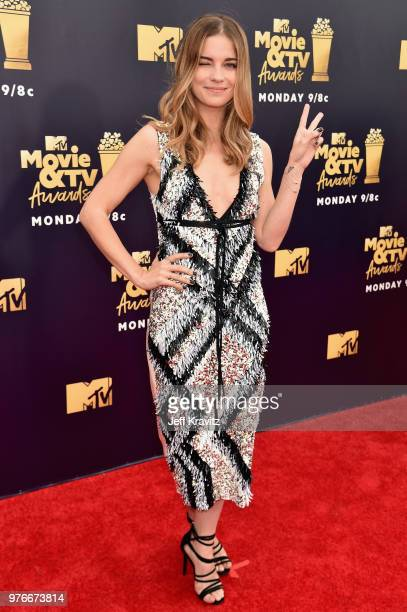 Actor Annie Murphy attends the 2018 MTV Movie And TV Awards at Barker Hangar on June 16 2018 in Santa Monica California