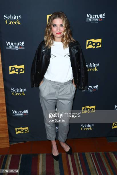 Actor Annie Murphy attends the 'Schitt's Creek' panel part of Vulture Festival LA presented by ATT at Hollywood Roosevelt Hotel on November 19 2017...