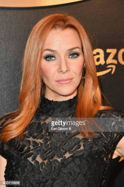 Actor Annie Wersching attends Amazon Studios' Golden Globes Celebration at The Beverly Hilton Hotel on January 7 2018 in Beverly Hills California