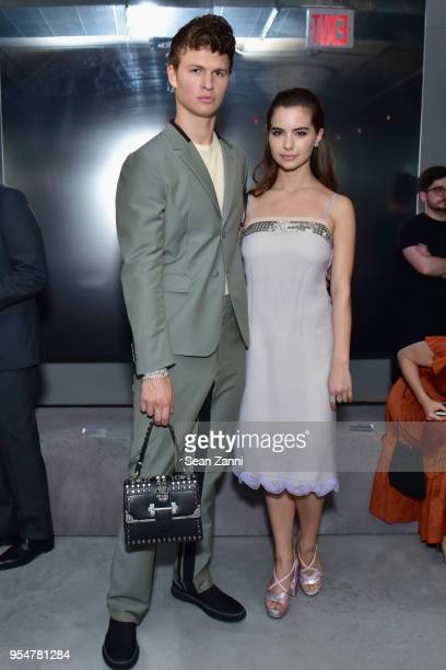 Actor Ansel Elgort and Ballerina Violetta Komyshan attend the Prada Resort 2019 fashion show on May 4 2018 in New York City