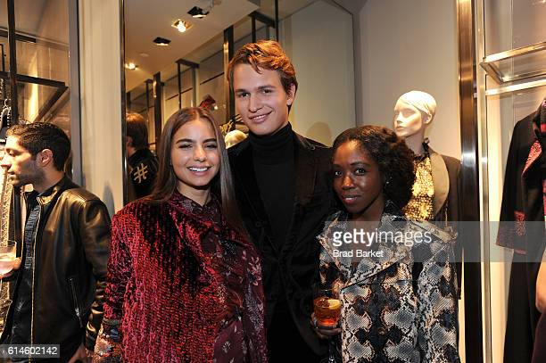 Actor Ansel Elgort and ballet dancer Violetta Komyshan and guest attend DISARONNO Wears ETRO Launch Event at ETRO in Soho October 13 2016 in New York...