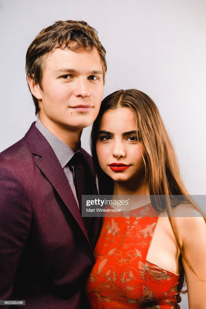 Actor Ansel Elgort (L) and Violetta Komyshan pose for a portrait during the 'Baby Driver' premiere 2017 SXSW Conference and Festivals on March 11, 2017 in Austin, Texas.