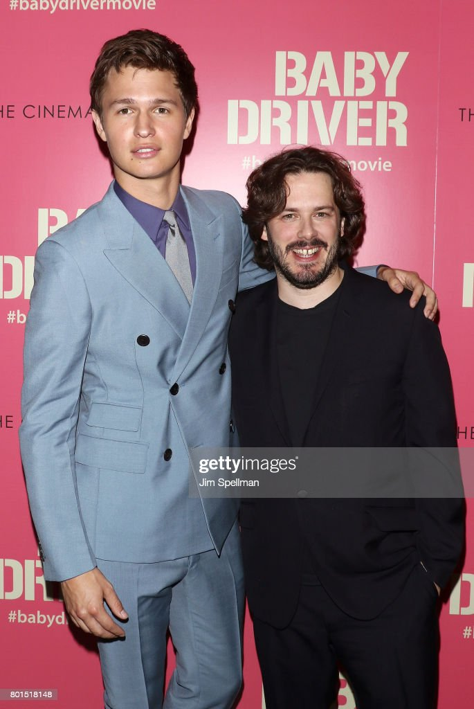 Actor Ansel Elgort (L) and writer/director Edgar Wright attend the screening of 'Baby Driver' hosted by TriStar Pictures with The Cinema Society and Avion at The Metrograph on June 26, 2017 in New York City.