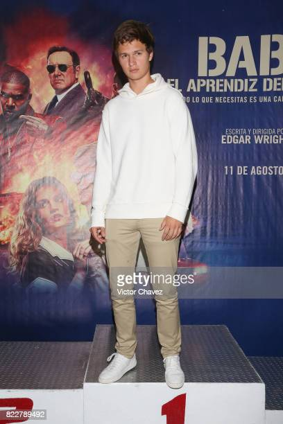 Actor Ansel Elgort attends a go kart race to promote the film 'Baby Driver' at K1 Speed Santa Fe on July 25 2017 in Mexico City Mexico