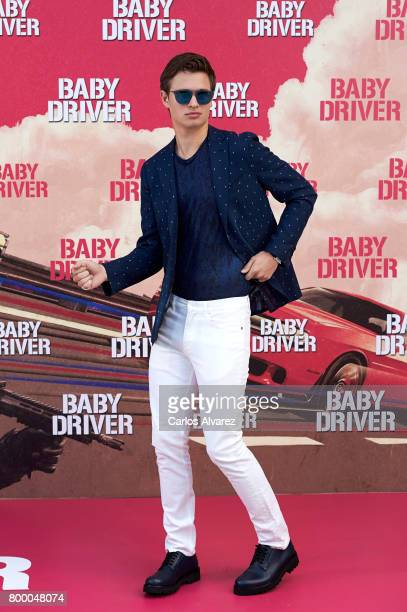 Actor Ansel Elgort attends 'Baby Driver' photocall at the Villamagna Hotel on June 23 2017 in Madrid Spain