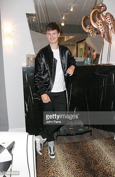 Actor Ansel Elgort attends Maison Montaigne as they Celebrate Flagship Store In Miami's Design District Sponsored By PerrierJouet at Maison Montaigne...