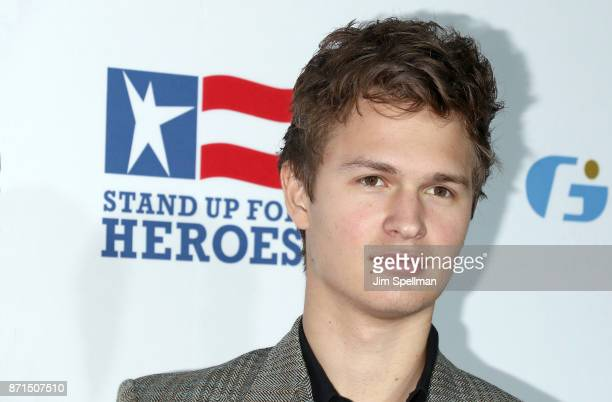 Actor Ansel Elgort attends the 11th Annual Stand Up for Heroes at The Theater at Madison Square Garden on November 7 2017 in New York City
