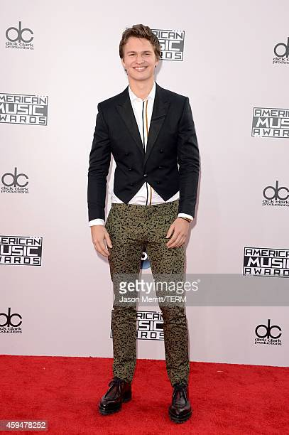 Actor Ansel Elgort attends the 2014 American Music Awards at Nokia Theatre LA Live on November 23 2014 in Los Angeles California