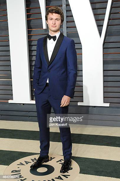 Actor Ansel Elgort attends the 2015 Vanity Fair Oscar Party hosted by Graydon Carter at Wallis Annenberg Center for the Performing Arts on February...