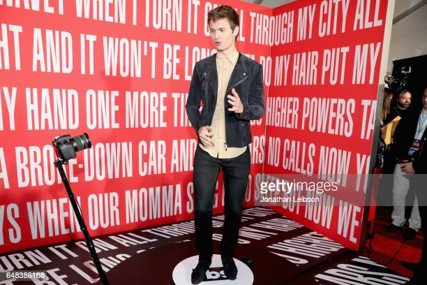 Actor Ansel Elgort attends the 2017 iHeartRadio Music Awards which broadcast live on Turner's TBS TNT and truTV at The Forum on March 5 2017 in...