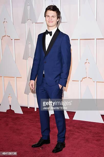 Actor Ansel Elgort attends the 87th Annual Academy Awards at Hollywood Highland Center on February 22 2015 in Hollywood California