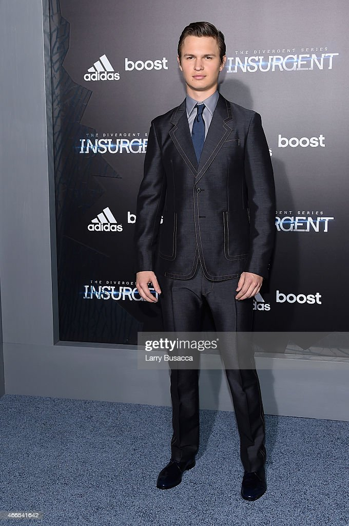 Actor Ansel Elgort attends 'The Divergent Series: Insurgent' New York premiere at Ziegfeld Theater on March 16, 2015 in New York City.