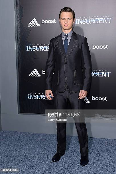 Actor Ansel Elgort attends 'The Divergent Series Insurgent' New York premiere at Ziegfeld Theater on March 16 2015 in New York City