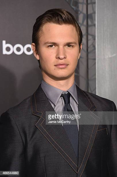 Actor Ansel Elgort attends The Divergent Series Insurgent New York premiere at Ziegfeld Theater on March 16 2015 in New York City