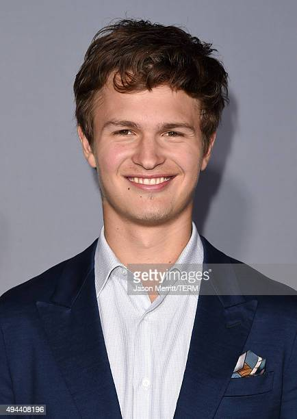 Actor Ansel Elgort attends the InStyle Awards at Getty Center on October 26 2015 in Los Angeles California