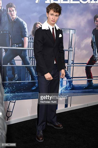 Actor Ansel Elgort attends the New York premiere of 'Allegiant' at the AMC Lincoln Square Theater on March 14 2016 in New York City