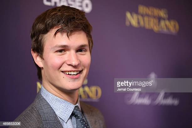 Actor Ansel Elgort attends the opening night of 'Finding Neverland' at LuntFontanne Theatre on April 15 2015 in New York City