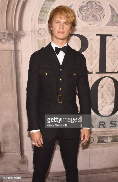 Actor Ansel Elgort attends the Ralph Lauren 50th Anniversary event during New York Fashion Week at Bethesda Terrace on September 7 2018 in New York...